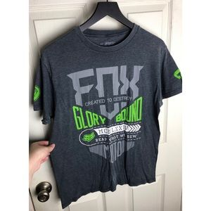 Fox Shirts - Fox racing medium gray graphic tee motocross